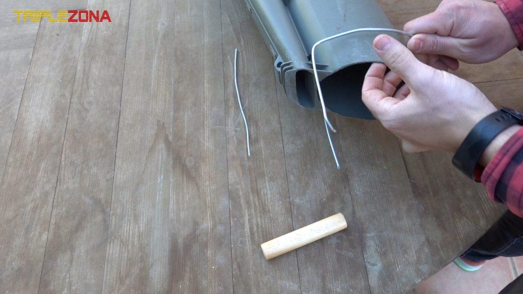 Terminando de dar forma al alambre