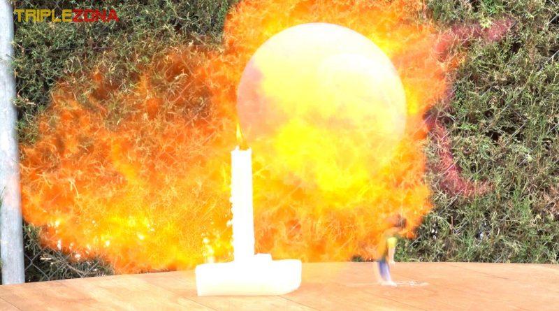 Explosión de un globo de Hidrógeno