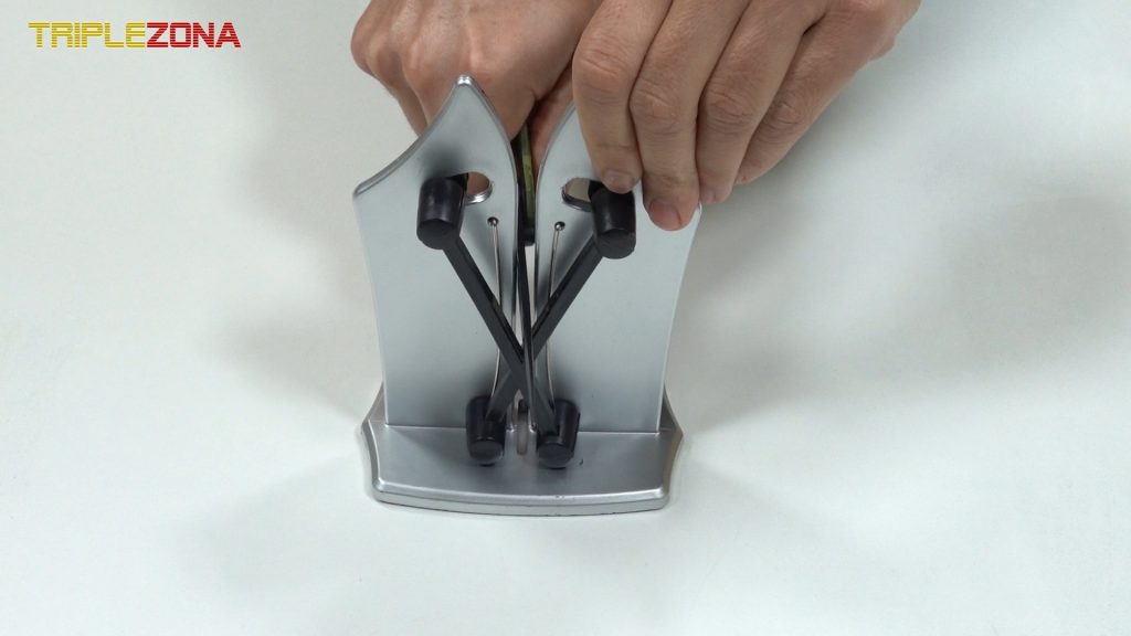 Afilar cuchillo con afilador de carburo de tungsteno