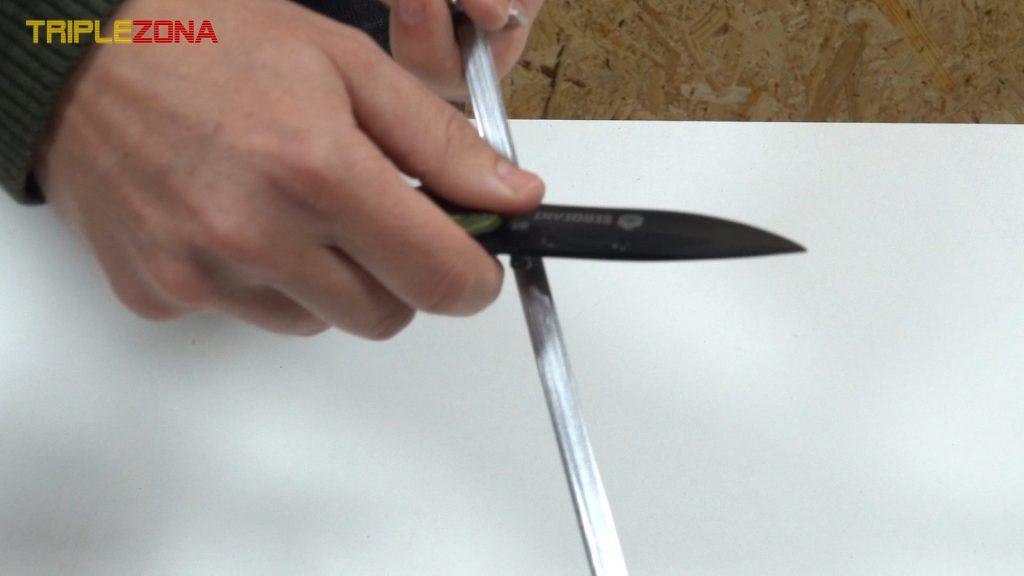 Afilar cuchillo con varilla de acero inoxidable