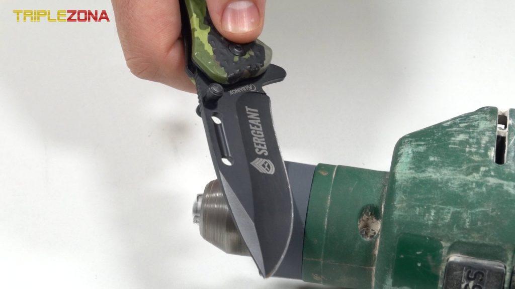 Contruir un afilador con lija y una maquina de taladrar