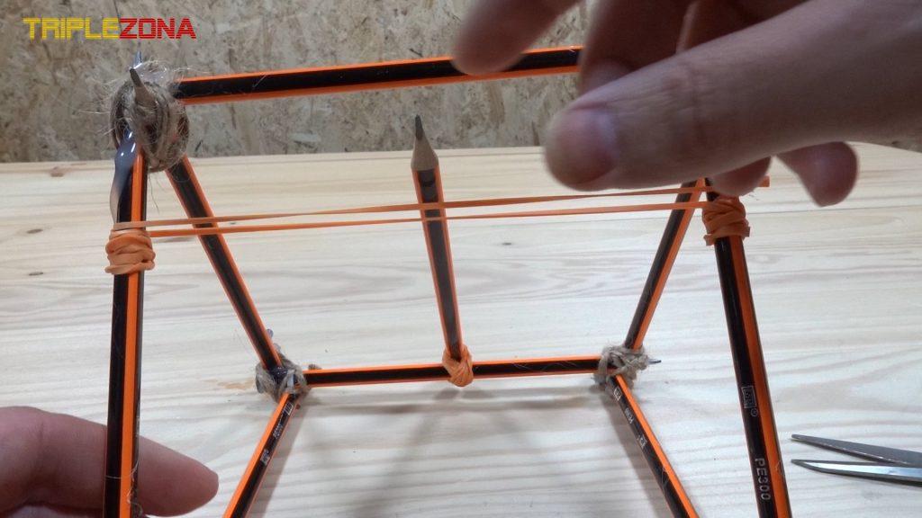 Goma impulsora de catapulta de lápices