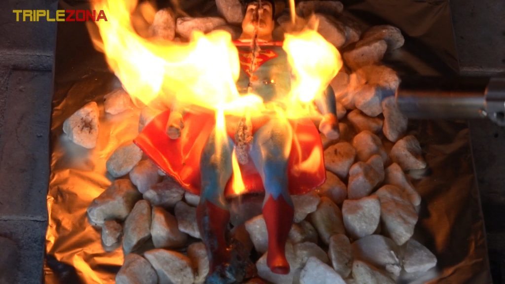 Stretch Superman ardiendo