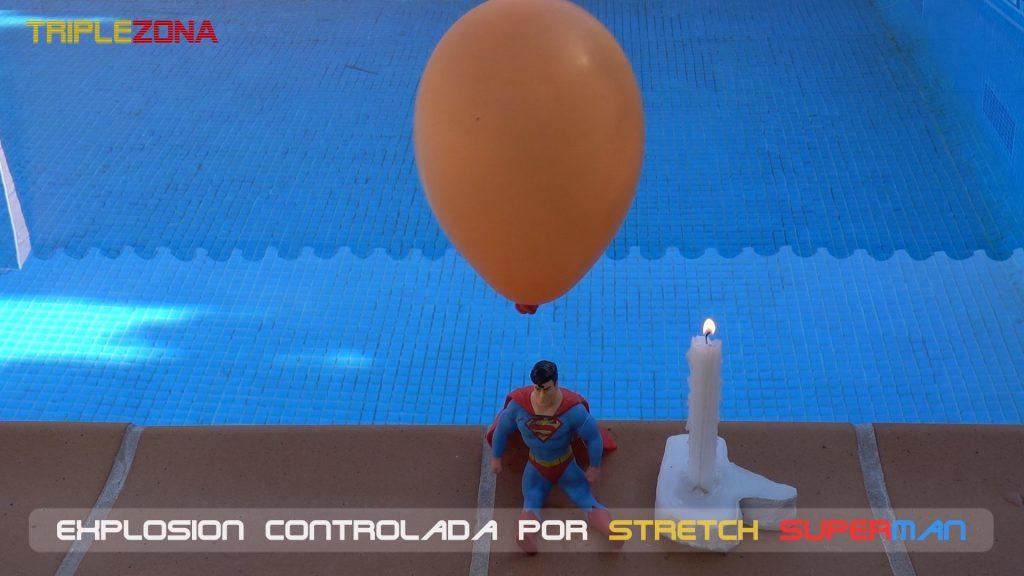 Stretch Superman preparado para explosión controlada