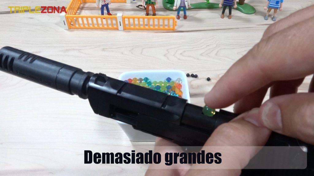 Orbeez demasiodo grande para pistola a piezas