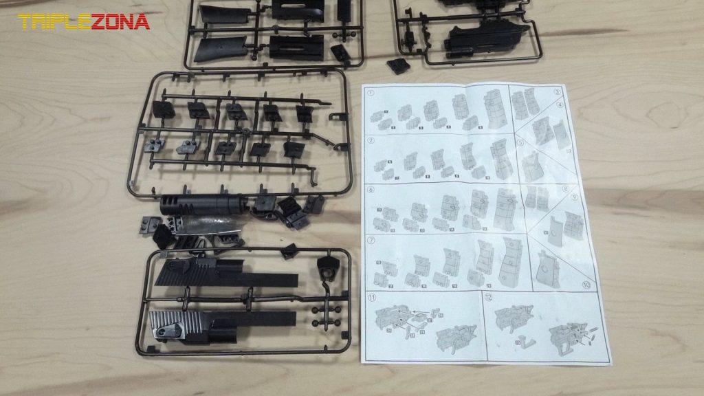 Pistola a piezas Orbeez desmontada