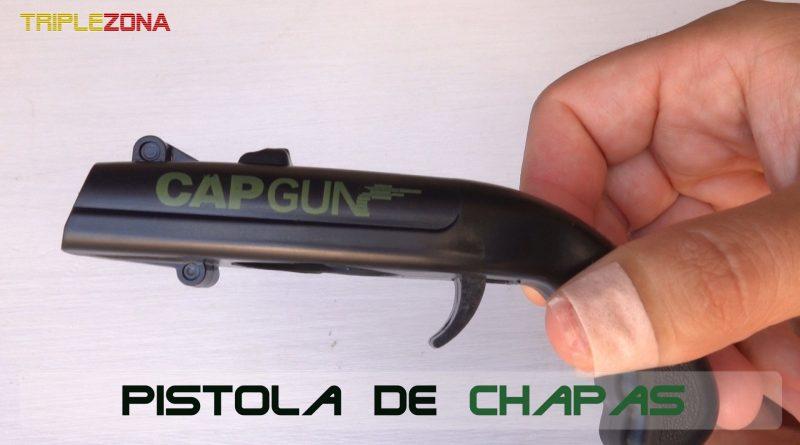 Pistola lanzadora de chapas