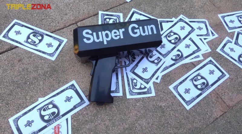 Pistola lanzadora de billetes
