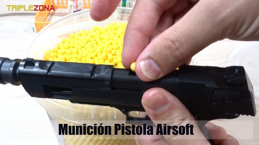 Pistola desmontable con municion Airsoft