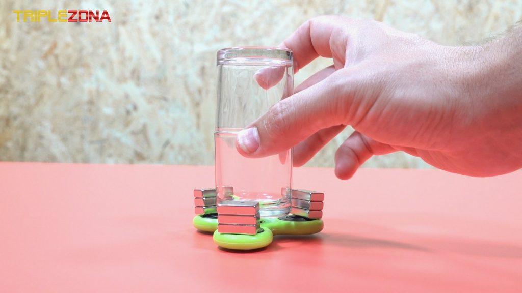 Base de dos vasos sobre spinner magnetico