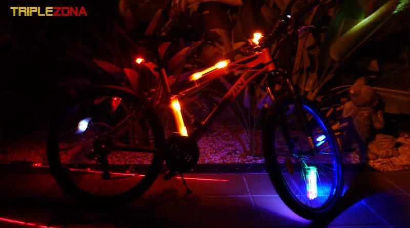 Bicicleta mas iluminada del mundo