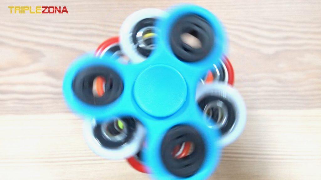 Torre de spinner girando - Vista desde arriba