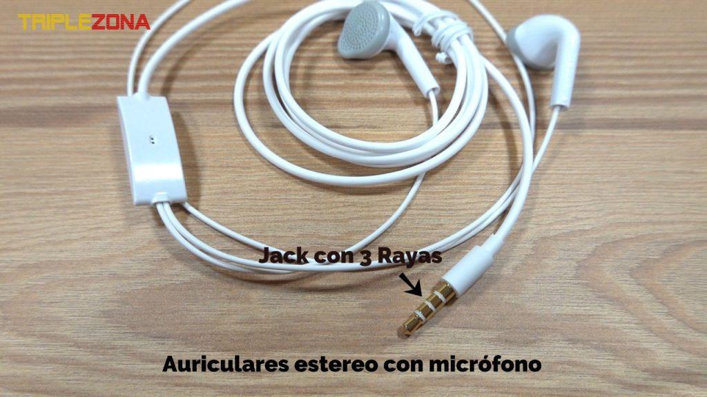 Auriculares estéreo con microfono