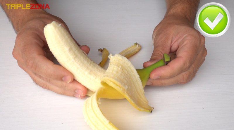 Forma correcta de pelar un plátano