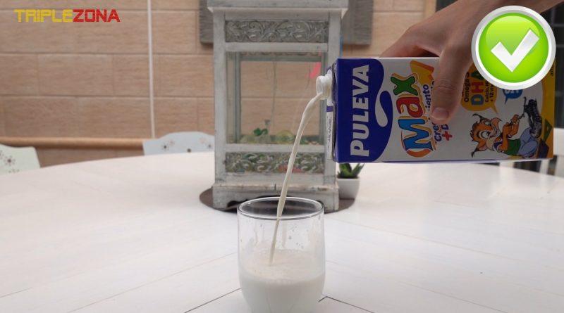 Forma correcta de servir un brik de leche o zumo