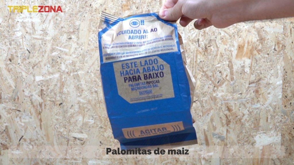 Paquete o bolsa de palomitas de maiz
