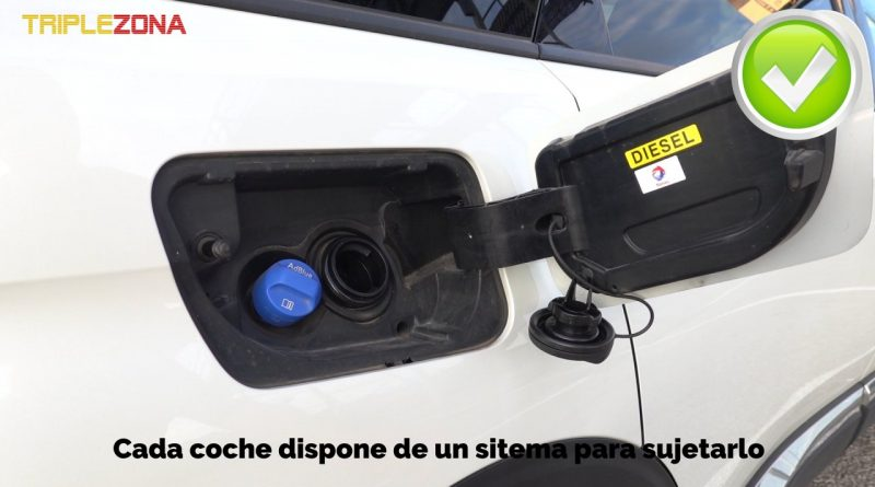 Tapón de gasolina en su sitio