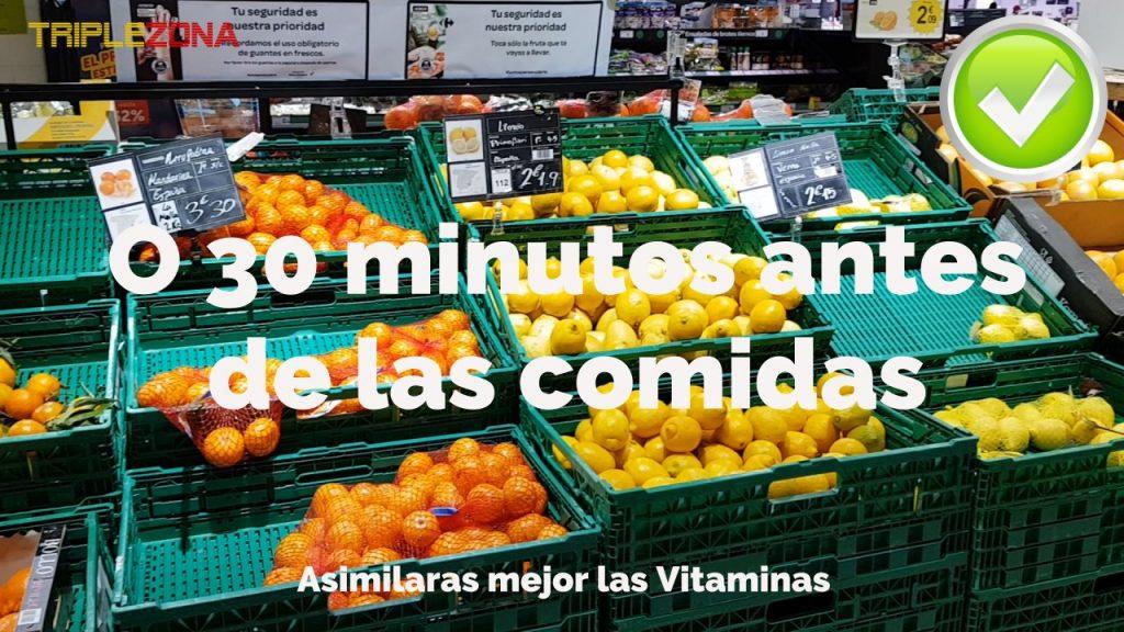 Toma fruta 30 minutos antes de las comidas