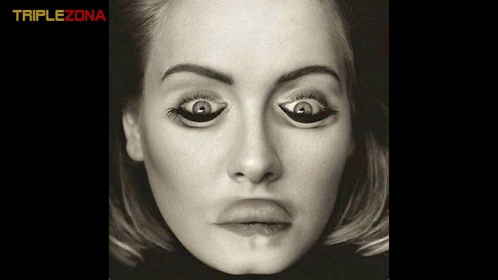 Ilusión óptica foto Adele - Efecto Thatcher